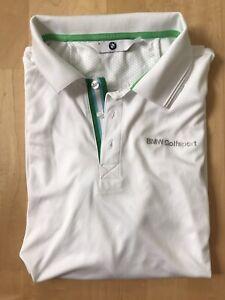 BMW Golfsport, Herren Poloshirt, weiß, Gr. L