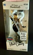 """Cryptozoic DC Comics Bombshells Black Canary 7"""" Black White Sketch Fan Expo Excl"""
