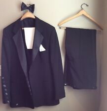 VINTAGE GIVENCHY 3-PC FORMAL TUXEDO CUSTOM TAILORED FOR ROCHESTER BIG & TALL
