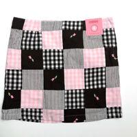 NWT Gymboree Girls 6 Tulip Garden Pink Brown Skirt Skort Vintage