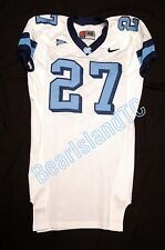 Game Used Worn UNC Tar Heel NIKE Football Jersey Sz 48 WHITE #27 North Carolina