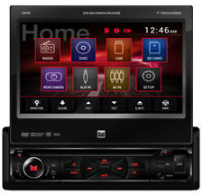 "DUAL DV705 SINGLE DIN IN-DASH DVD/CD/AM/FM CAR STEREO 7"" TOUCHSCREEN MONITOR USB"