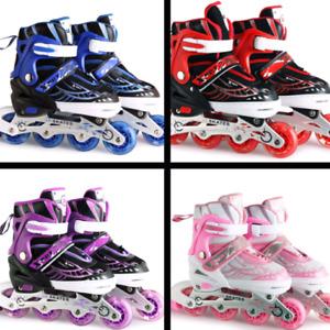 Adjustable Sizes Rollerblades Inline Skates Blades Girl Boy Roller Shoes Kids