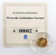 #e7255 Münze Wertvolle Goldschätze Europas Louis Philippe I. 585 Gold *00002*