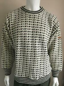 Thick Chunky DEVOLD Norwegian Wool Crew Neck Jumper - see description