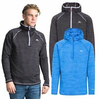 Trespass Shale Mens Pull Over Hooded Fleece Warm Hiking Jumper