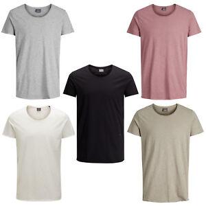 Jack & Jones Originals T-Shirt U-Neck Casual Mens Tee 100% Soft Cotton Jorbas