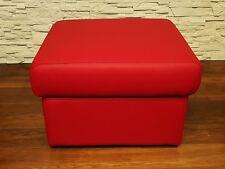 Rot Echt Leder Hocker Sitzhocker Fußhocker 60x55 Echtleder Puff Polsterhocker