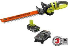 Ryobi 22 in. Hedge Trimmer ONE+ 18 Volt Lithium-Ion Cordless Charger And Battery
