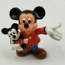 """Walt Disney Productions """"Mickey Mouse holding a Mickey Mouse"""" PVC"""
