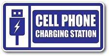 Cell Phone Charging Decal waterproof outdoor high quality White Background