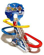 Pinguin Pinguine Kinderspielzeug batteriebetrieben Pinguinbahn Rutsche LED Music