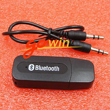 2Pcs 3.5mm Wireless Bluetooth Aux Audio Stereo Music Home Car Receiver Adapter