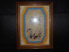 dessin encadré Disney les 3 petits cochons 1936