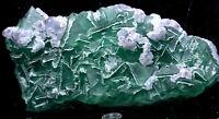 1.9lb NATURAL Calcite Octahedral Green FLUORITE Crystal Cluster Mineral Specimen