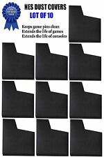 Lot of 10 NES Dust Covers Sleeves for Nintendo Games (BLACK)