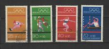 Deutsche Bundespost ALLEMAGNE 1972 Jeux Olympiques 4 timbres oblitérés /T3348