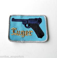 LUGER PARABELLUM PISTOL GUN NOVELTY EMBRODERED PATCH 2 X 3 INCHES