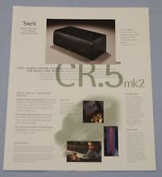RARE_Vintage_ Snell Acoustics CR.5 mk2 Original 2-page Sales Brochure