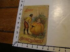McLOUGHLIN BROS BOOK: Rymes & Jingles 1896