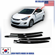 SMOKED DOOR WINDOW VENT VISOR DEFLECTOR (A123) HYUNDAI ELANTRA SEDAN 2011-2016