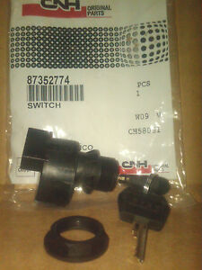 CASE IGNITION SWITCH # 87352774 - OEM - FOR 400 SERIES SKID STEERS