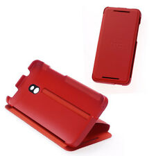 NEW HTC HC V851 RED FLIP CASE COVER WITH STAND FOR HTC ONE MINI 99H11286-00