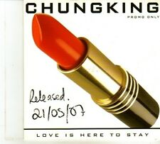 (DP377) Chungking, Love Is Here To Stay - 2007 DJ CD