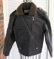 MGR Punk Rock Indie Black Genuine Leather Biker Jacket
