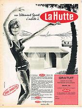 PUBLICITE  1966   LA HUTTE  vetements de sport