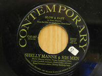 Shelly Manne & His Men jazz 45 Slow & Easy bw Peter Gunn on Contemporary