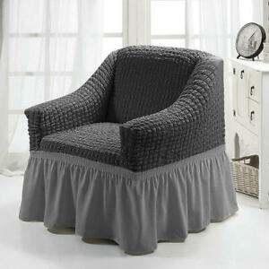 Seersucker Slipcover Stretch Sofa Skirt Covers Non Slip Couch Covers Furniture