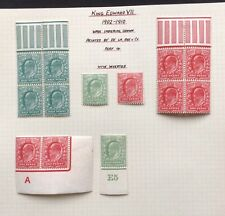 GB Edward VII mint & used selection on pages including officials.