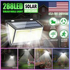 288LED Solar Power Lamp Waterproof PIR Motion Sensor Garden Yard Wall Light Best