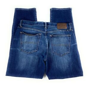 Lucky Brand Men's 121 Slim Stretch Distressed Dark Wash Blue Jeans 34x30