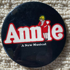 New listing Vintage Pin-Back Button Annie A New Musical