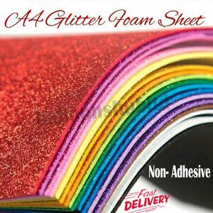 Glitter Foam A4 Diy Sheet Premium Quality For Art Kids Crafts And Decoration UK