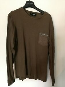 T-shirt Manches Longues The Kooples Homme Taille M Kaki