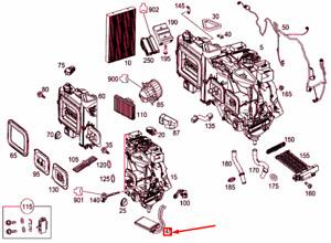 MERCEDES-BENZ VITO W447 Heat Exchanger A0008304401 NEW GENUINE