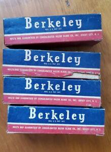 80 packs 4 STORE DISPLAY BOXES VTG BERKELEY DOUBLE EDGE SAFETY SHAVING RAZORS