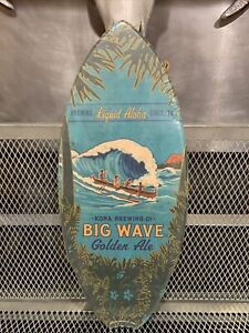 KONA BREWING COMPANY Wooden Surfboard Advertising Sign Great Color NEW USA MADE