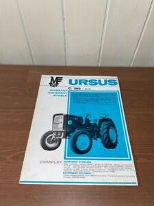 brochure prospekt PROSPECTUS TRACTEUR URSUS C.360 tractor-traktor-zetor-lanz-ih