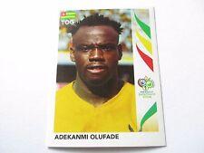 Sticker PANINI Fifa World Cup GERMANY 2006 N°529 Togo Adekanmi Olufade
