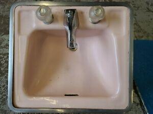 Vintage American Standard Pink Cast Iron Sink 20x18