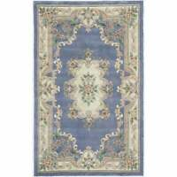 Iona Hand-Tufted Wool Oriental Accent Rug (2' x 4') - 2' x Light Blue 2' x 4'
