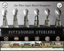 PITTSBURGH STEELERS Super Bowl Trophies Glossy 8 x 10 Photo Poster