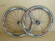 American Classic Carbon 38 700c Aero Wheels Tubulars + Tyres - Very Light!