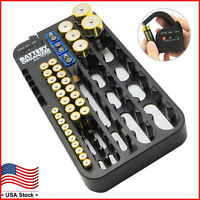 Battery Organizer Storage Case with Removeable Tester Holds 72 Batteries AAA D C
