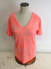 NEW NWT Emma & Sam LF Stores Distressed Cotton Blend Salmon T Shirt $68 retail