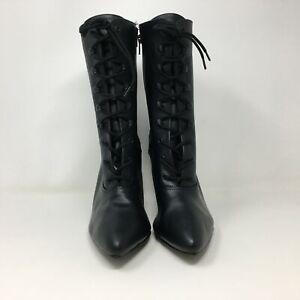 Women's Pleaser Shoes Vanity 1020 Lace Up Heeled Shoe, Size 11 {US} - Black